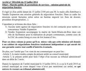 arrêté municipal 2014.046