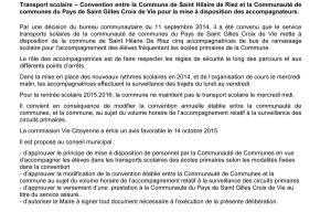 CONSEIL MUNICIPAL de St HILAIRE de RIEZ